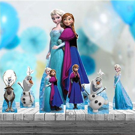 Kit 7 Frozen Totem Chão E Mesa Festa Aniversario