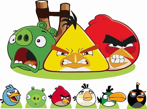 Kit 7 Display Centro Chão Angry Birds Festa Infantil