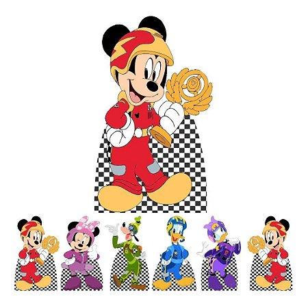 Kit 7 Totem Display Festa Mickey Sobre Rodas