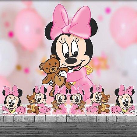 Kit 7 Minnie Baby Disney Totem Display Centro Mesa Chão