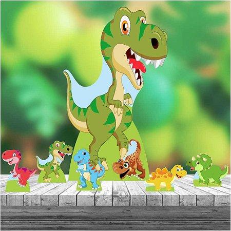 Kit 7 Totem Dinossauro Baby Mdf Decoração Display Festa
