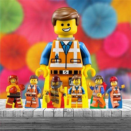 Kit 7 Totem Display Festa Lego Decoração Mdf