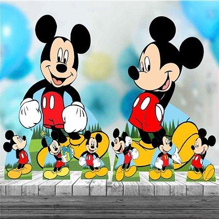 Kit 8 Festa Decoração Totem Display Mickey Aniversario
