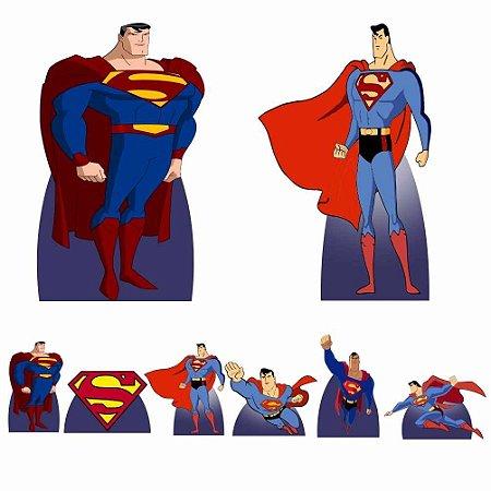 Kit 8 Totem Display Super Man Homem Festa Aniversário