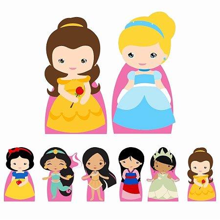 Kit 8 Totem Display Princesas Cute Festa Aniversário