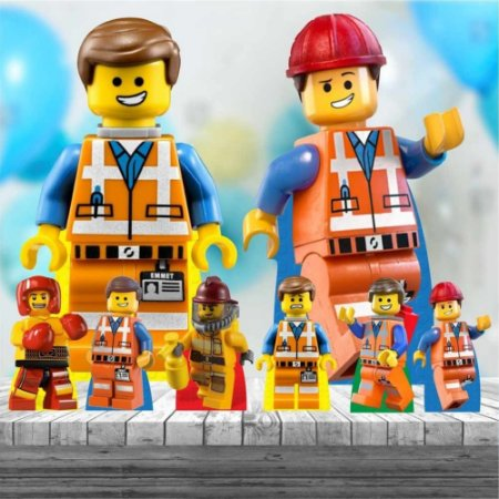 Kit 8 Display Totem Lego Festa Aniversário