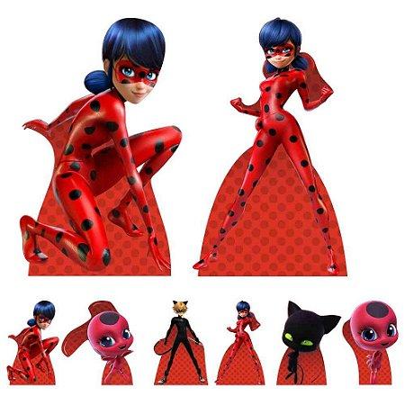 Kit 8 Totem Display Ladybug Miraculous Festa Aniversário