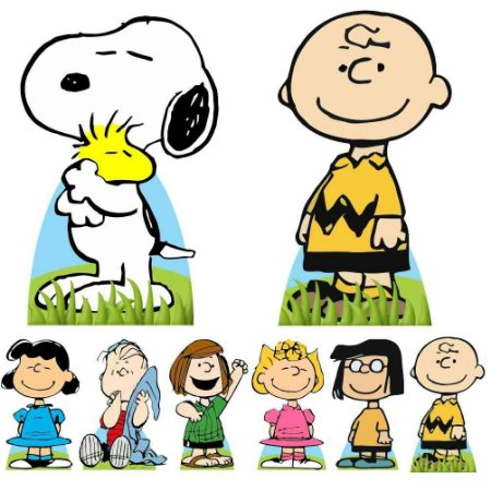 Kit 8 Totem Display Snoopy Chalie Brown Festa Aniversário