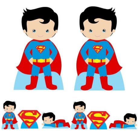 Kit 8 Totem Display Super Man Cute Festa Aniversário