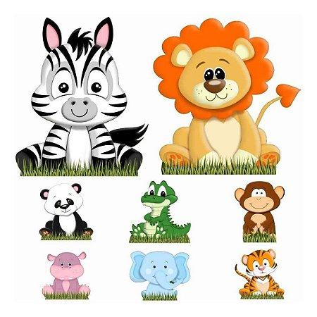 Kit 8 Totem Display Safari Baby Festa Aniversário