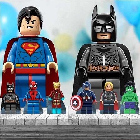 Kit 8 Display Totem Lego Herois Festa Aniversário