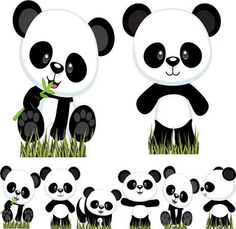 Kit 8 Totem Display Panda Baby Festa Aniversário