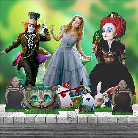 Kit 9 Totem Festa Alice No Pais Das Maravilhas Filme