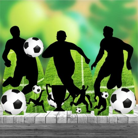 Kit 9 Festa Completo Totem Display Futebol Bola Jogador