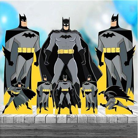 Kit 9 Totem Festa Infantil Completo Mdf3 9 Peças Batman