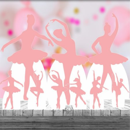Kit 9 Bailarina Sombra Silhueta Totem Display