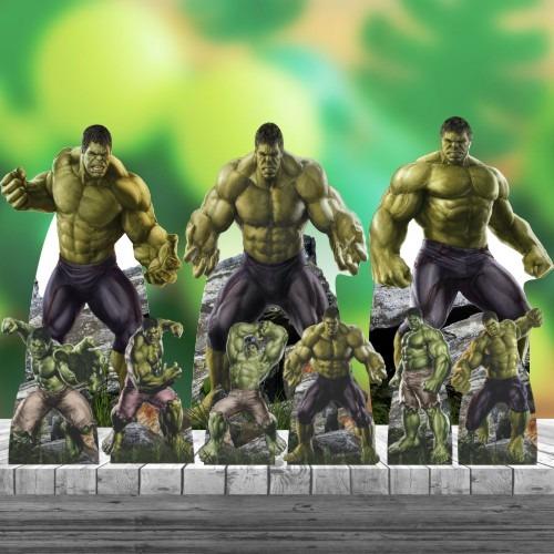 Kit 9 Hulk Heroi Totem Display Centro Mesa Chão