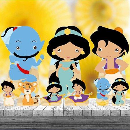 Kit 9 Aladdin Jasmine Cute Display Festa Decoração