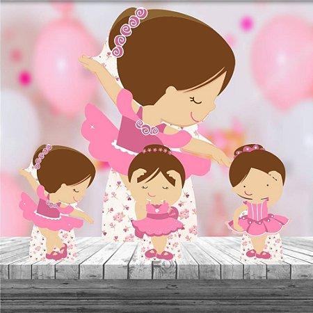 Kit 4 Totem Bailarina Decoração Festa