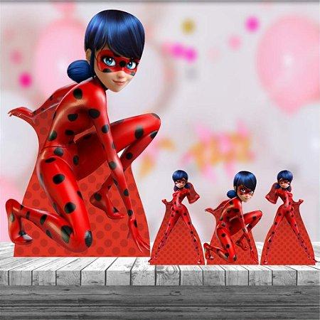 Kit 4 Totem Display Ladybug Decoração Festa