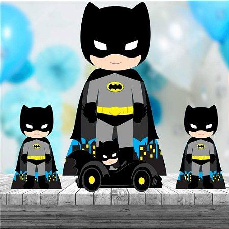 Kit 4 Totem Batman Cute Decoração Festa