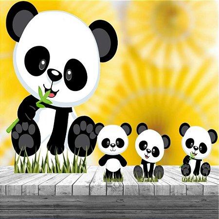 Kit 4 Totem Display Panda Baby Festa Aniversário