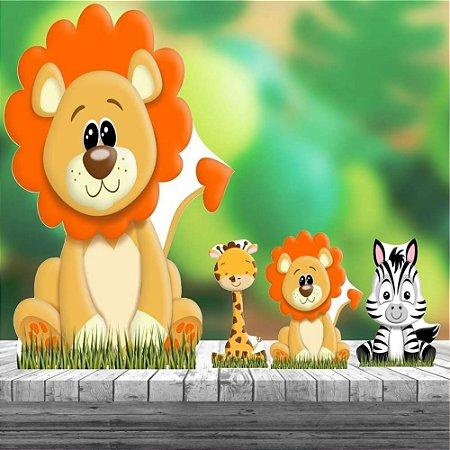 Kit 4 Totem Safari Baby Mdf Decoração Festa