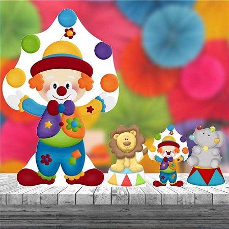 Kit 4 Display Totem Circo Decoração Festa Aniversário
