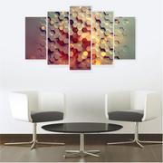 Quadro Mosaico Decoração Abstrato 5 Peças Mdf Mod 6