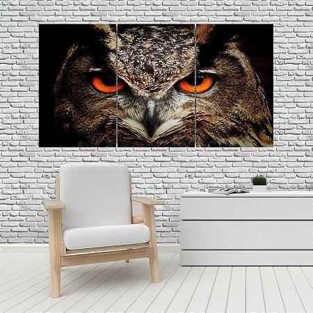 Quadro Mosaico Decoração Animal 121x65 com 3 Peças Mod 05