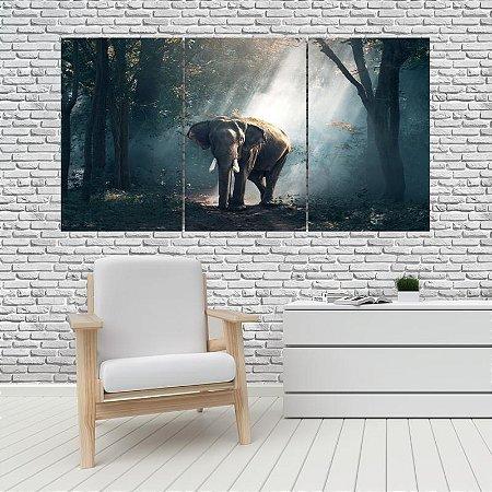 Quadro Mosaico Decoração Animal 121x65 com 3 Peças Mod 15