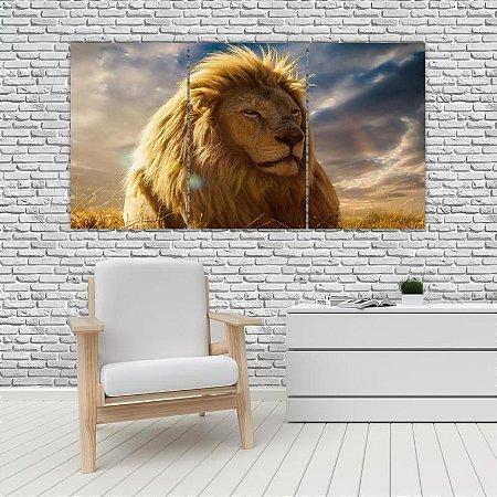 Quadro Mosaico Decoração Animal 121x65 com 3 Peças Mod 25