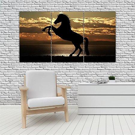 Quadro Mosaico Decoração Animal 121x65 com 3 Peças Mod 29