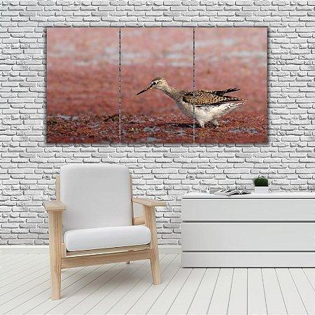 Quadro Mosaico Decoração Animal 121x65 com 3 Peças Mod 35