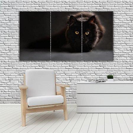 Quadro Mosaico Decoração Animal 121x65 com 3 Peças Mod 36