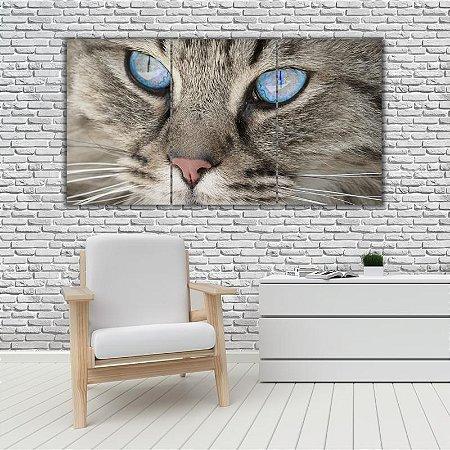Quadro Mosaico Decoração Animal 121x65 com 3 Peças Mod 37