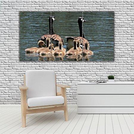 Quadro Mosaico Decoração Animal 121x65 com 3 Peças Mod 41