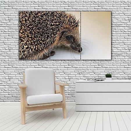 Quadro Mosaico Decoração Animal 121x65 com 3 Peças Mod 43
