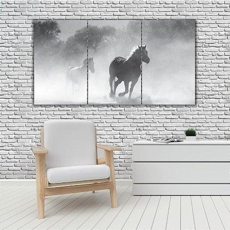 Quadro Mosaico Decoração Animal 121x65 com 3 Peças Mod 46