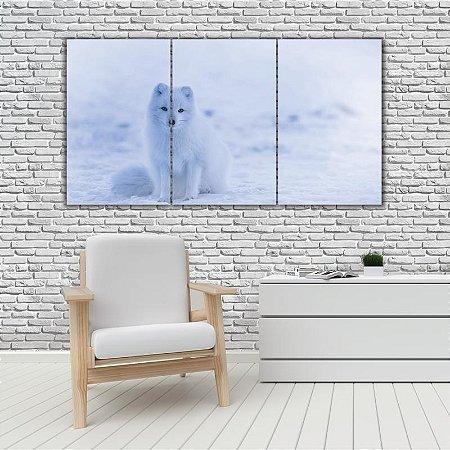 Quadro Mosaico Decoração Animal 121x65 com 3 Peças Mod 47