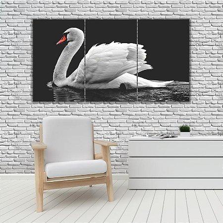 Quadro Mosaico Decoração Animal 121x65 com 3 Peças Mod 54