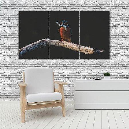 Quadro Mosaico Decoração Animal 121x65 com 3 Peças Mod 62