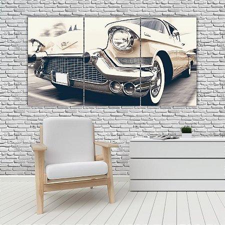 Quadro Mosaico Decoração Carros 121x65 com 3 Peças Mod 06