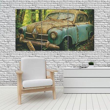 Quadro Mosaico Decoração Carros 121x65 com 3 Peças Mod 15