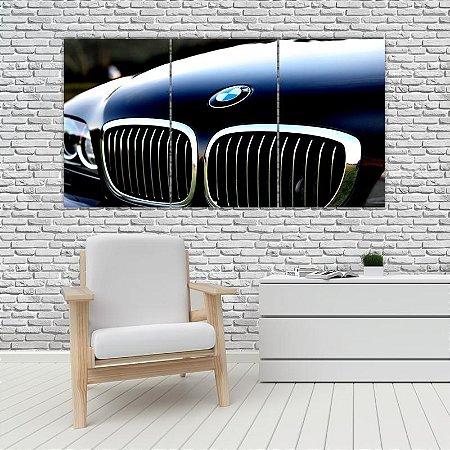 Quadro Mosaico Decoração Carros 121x65 com 3 Peças Mod 17