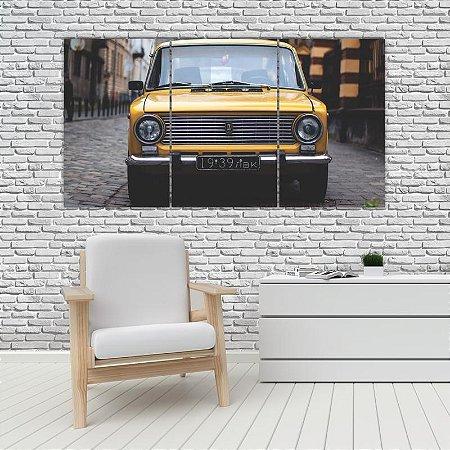 Quadro Mosaico Decoração Carros 121x65 com 3 Peças Mod 20