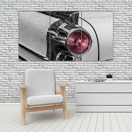 Quadro Mosaico Decoração Carros 121x65 com 3 Peças Mod 21