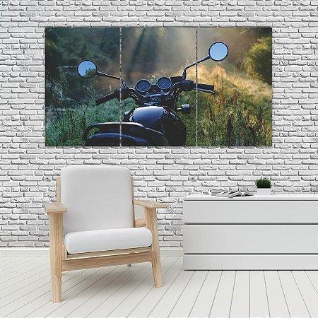 Quadro Mosaico Decoração Carros 121x65 com 3 Peças Mod 24