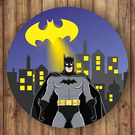Painel Tecido Redondo Batman Decoração Festa 02