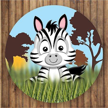 Painel Tecido Redondo Safari Decoração Festa 01